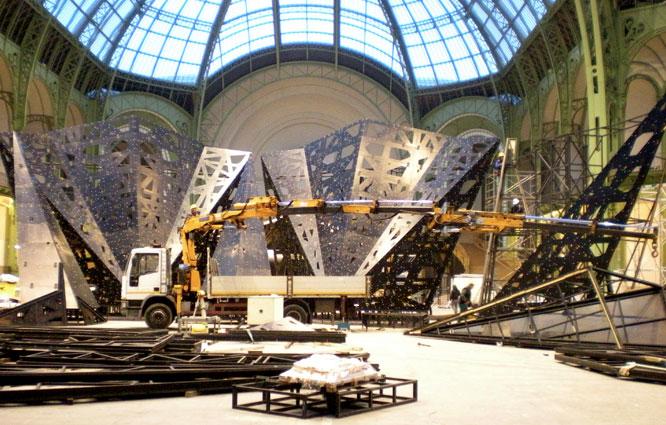 Préparation pour l'exposition 125 ans de Bulgari – Grand Palais Paris
