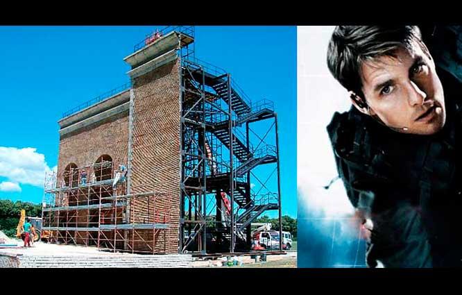 """Scenografia alla Reggia di Caserta per """"Mission Impossible III"""""""